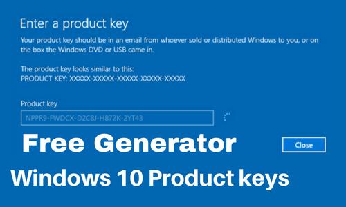 Windows 10 Product Key Generator Crack 2020 Free Download